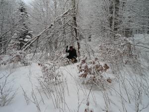 Immerso nella neve e nei pensieri