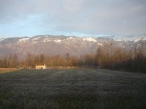 Ore 7:18, la montagna è baciata dal sole