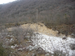 Erosione delle piene dell'Artugna