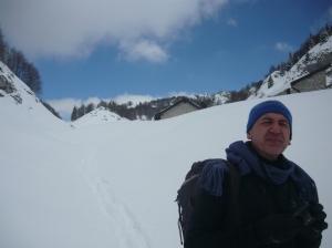 Tony pronto al rientro in prossimità della Valle Friz