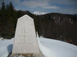 Cippo commemorativo dell'anno della Montagna