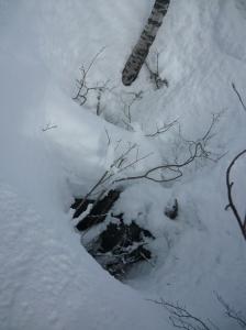 Foiba (inghiottitoio) fra la neve