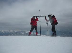 Autoscatto sulla cima del Cornier, fra vento e neve alzata da quest'ultimo (non ho messo gel!!!)