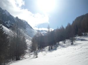 Val Salaris e in fondo il Monte Sestier