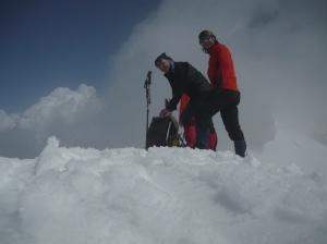 Tony e io in cima Valgrande