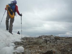Eccoci sulla cima del Dobratsch, a 2167 metri slm