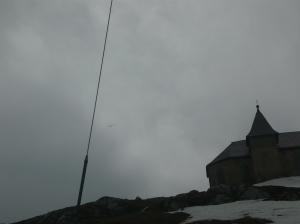 Aliante sfida il vento