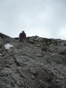 Tony a pochi metri dalla cima