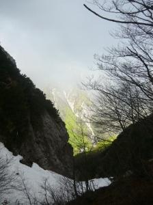 Vista della valletta da fercella Giavéit