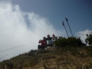 In cima al monte Provagna, a 1696 metri slm