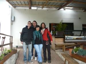 """Mauro, Lerri, Lisa e io da """"il Titti2 (malga Coda di Bosco)"""