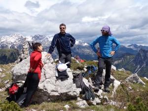 In cima al Monte Flop, con Michele, Tulia e naturalmente Tony