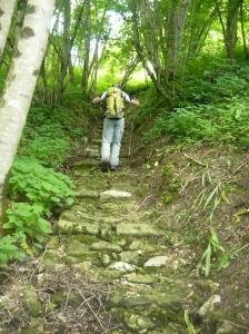 Ultima salita attraverso antichi gradini che portano a Casasola