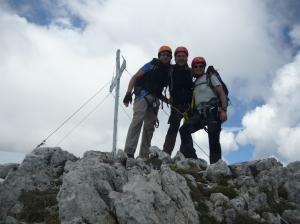 Michele, Tony ed io in cima a Creta D'Aip