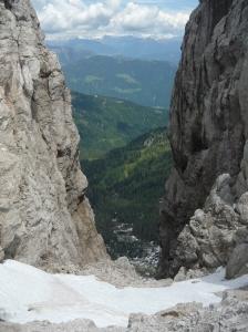 Fra le creste, una magnifica vista verso l'Austria