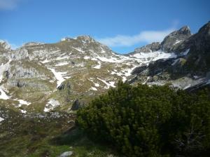 Val Sughet con le principali cime del gruppo del Monte Cavallo