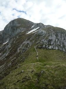 Il monte Tremol e la cresta di salita