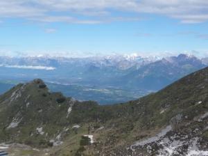 Forcella La Palantina Alta e vista verso le Dolomiti Bellunesi
