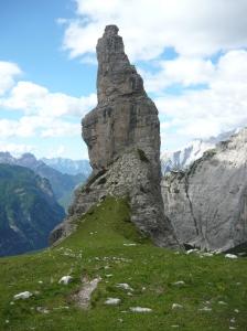 Foto al Campanile dal bivacco Perugini (2060 metri slm)