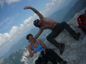 Tullia e Mr Tabacco in cima al Nabois Grande