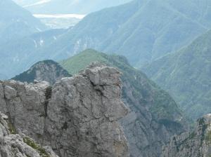 Un profilo di un volto nella roccia