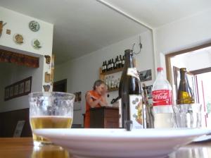Birra, succo di sambuco e dolce (già sparito)