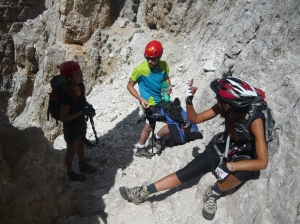 Pausa per attendere la salita degli altri escursionisti che abbiamo raggiunto