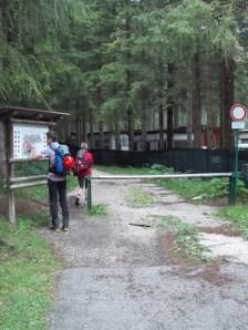 Inizio del sentiero CAI 417