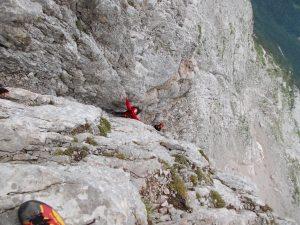Jo impeganto nell'arrampicata