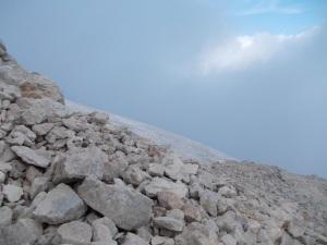 Roccia e neve verso il Torrani