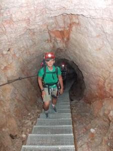 Galleria del Castelletto, i gradini aiutano molto