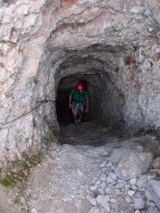 Quasi alla fine delle gallerie del Castelletto