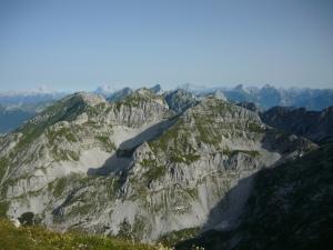 Vista verso le Dolomiti dal Cimon di Palantina