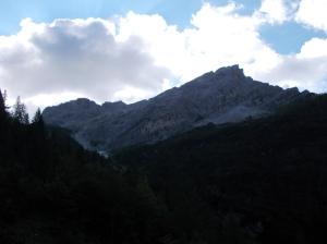 Il Pramaggiore e la sua cresta visti dal sentiero CAI 362