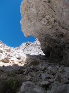 Pietrisco sotto al monte Ciastel