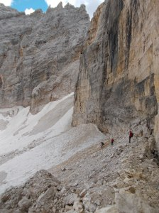Il ghiacciaio nel Ciadin de Fanes