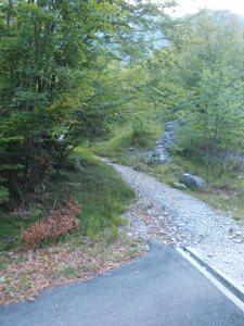 Fra strada asfaltata, bianca, mulattiera e sentiero