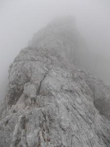 Cresta poco sotto la cima