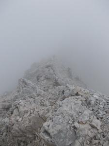 In cresta verso la scala Pipan