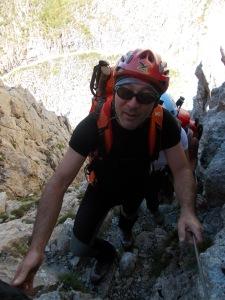 Salendo verso la cima di Creta di Collina