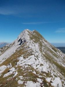 La cresta della Caulana dall'omonima forcella
