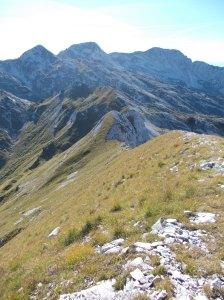 Cima Valgrande e forcella Caulana