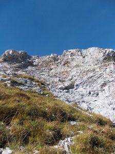 Paretina sul versante Sud della cima Valgrande
