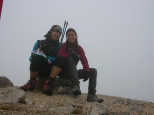 Autoscatto su cima Manera, 2251 metri slm