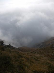 Le nuvole risalgono da valle