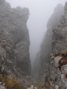 Scendendo dalla cima del Gartnerkofel
