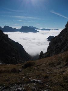Altro mare di nuvole verso la pianura