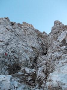 Secondo canale da arrampicare