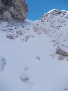 Ultimo ripido tratto per forcella Val d'Arcia