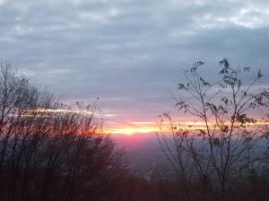 L'alba salendo verso il Piancavallo
